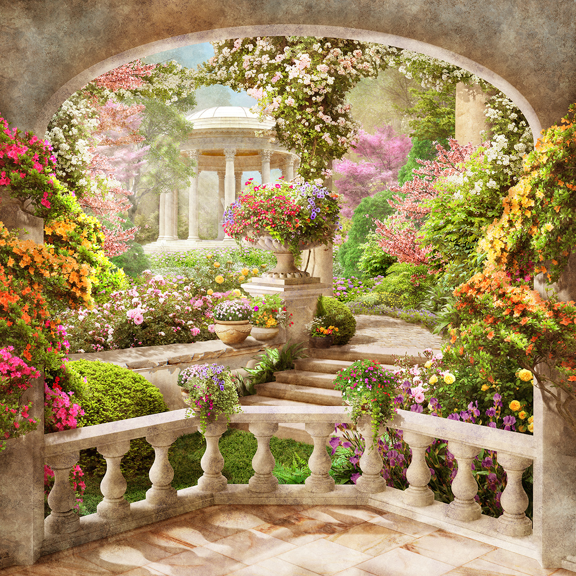 картинки цветы перспектива для