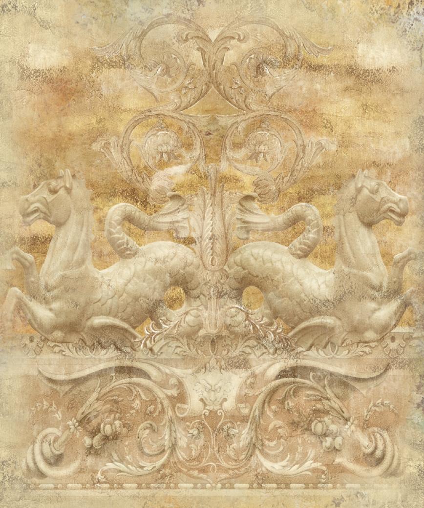 Фотообои на стену панно в романском стиле