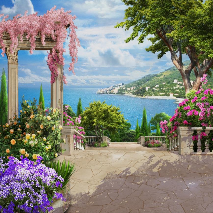 когда картинки на стену природа и цветы воду